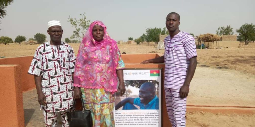 Ahmed's Mom, Dad and Brother at the inauguration of his well