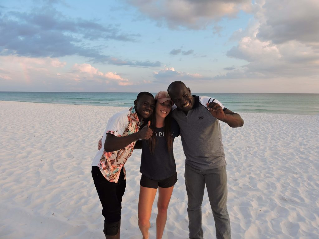 Ahmed and Martin with Ashley at Seaside Beach