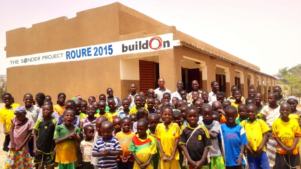 Picture of the first school The Sonder Project built with BuildOn